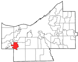 Location of Berea in Cuyahoga County