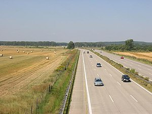 Bundesautobahn 10 - Berliner Ring between Ludwigsfelde and Nuthetal interchange