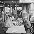 Beslissingswedstrijd schaken begonnen in GAK, Portisch te Reshevsky, Bestanddeelnr 916-5870.jpg