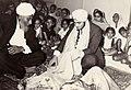 Betrothal -Kurhmai- Ceremony. Pritam Singh Saundh giving ritual cash to his nephew -bhatija- Malkit. Nairobi. 1964.jpg