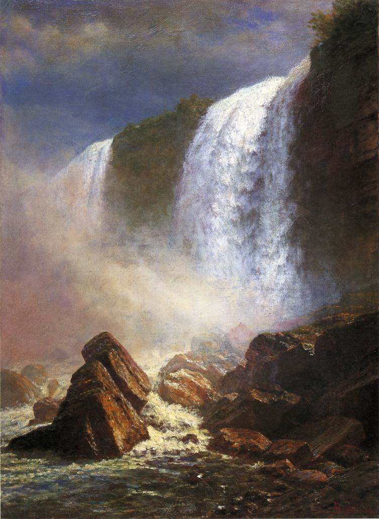 Bierstadt Albert Falls of Niagara from Below