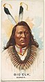 Big Elk, Ponca, from the American Indian Chiefs series (N2) for Allen & Ginter Cigarettes Brands MET DP828003.jpg
