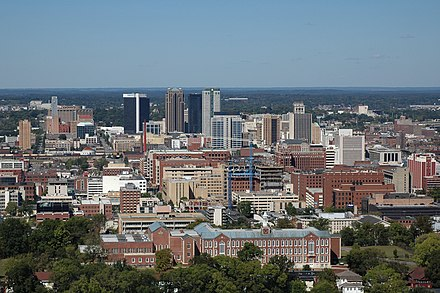 Birmingham, largest city and largest metropolitan area Birmingham, Alabama Skyline.jpg