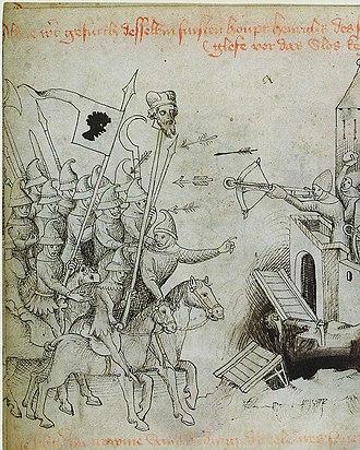 Baidar - The Mongols under Baidar display the head of Henry II to terrorize Wroclaw