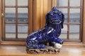 Blå Fos hund gjord av stengods i Kina, från 1800-talet - Hallwylska museet - 96136.tif