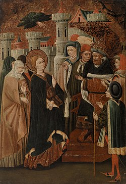 Blasco de Grañén - Saint Catherine of Siena before Pope Gregory XI - BF842 - Barnes Foundation.jpg