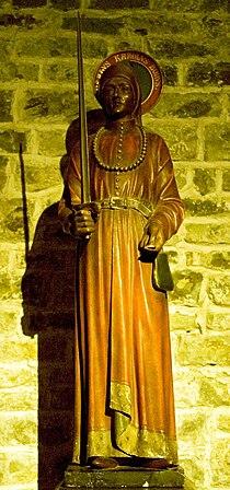 Jó Károly szobra a bruggei Szent Vér bazilikában