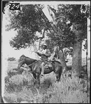 Bloody Knife, Custer's scout, on Yellowstone Expedition, 1873 - NARA - 524373