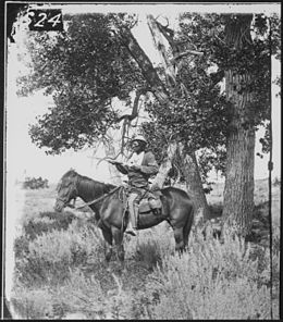 Bloody Knife, Custer's scout, on Yellowstone Expedition, 1873 - NARA - 524373.jpg
