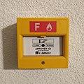 Boîtier alarme incendie jaune Luminox, à Lyon, France (2019).jpg