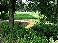 Boňkovský potok vytéká z Tvrzného rybníka.jpg