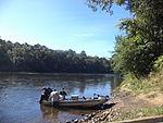 Boaters on Flint River, under GA 32 bridge.JPG