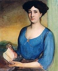 Boceto para el retrato de La señora de Casanueva