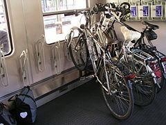 Fahrradstellplätze im CityNightLine-Wagen