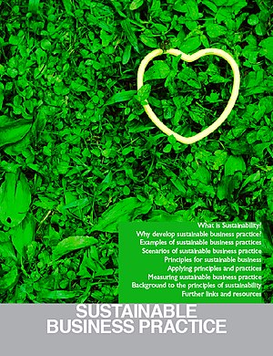 Cover for Sustainable Business Booklet.
