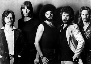 Boston (album) - From left: Barry Goudreau, Tom Scholz, Sib Hashian, Brad Delp, Fran Sheehan, in 1977.