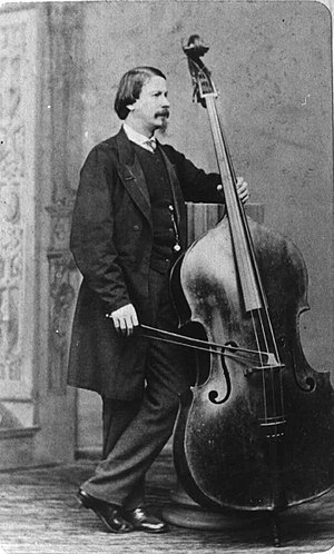 Giovanni Bottesini - Bottesini with his Testore bass around 1865