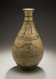 Bottle with Fish, Joseon dynasty (1392-1910), 15th-early 16th century.jpg