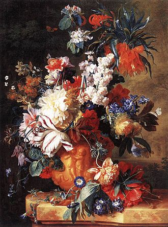 1724 in art -  Bouquet of Flowers in an Urn by Jan van Huysum, 1724