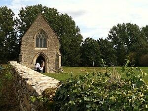 Bradwell Abbey - Image: Bradwell abbey chapel 0494
