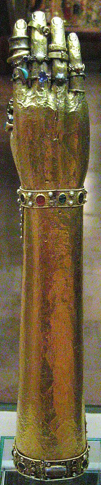 Guelph Treasure - Reliquary of the arm of Saint Blaise (Herzog Anton Ulrich Museum, Dankwarderode Castle)