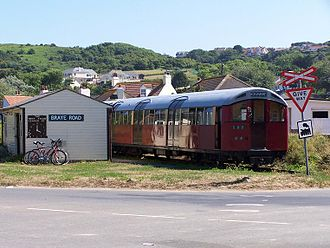 London Underground 1959 Stock - Two cars of 1959 stock as preserved on the Alderney Railway