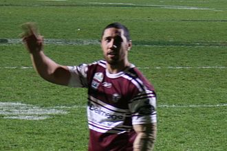 Brent Kite - Kite playing for the Sea Eagles in 2008