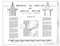 Bridge at Mouth of Rogue River, Spanning Rogue River on Oregon Coast Highway, Gold Beach, Curry County, OR HAER ORE,8-GOBE,1- (sheet 1 of 4).png