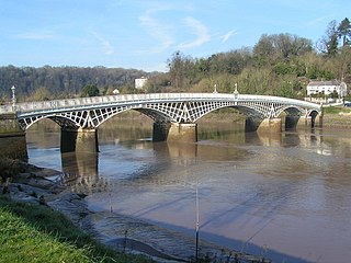 Old Wye Bridge, Chepstow bridge in Chepstow, south-east Wales