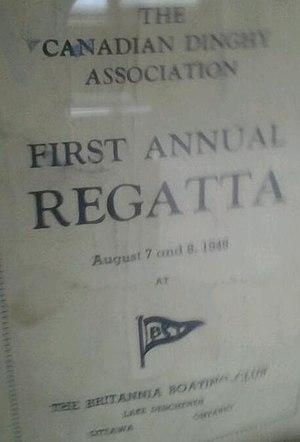 Canadian Dinghy Association - Britannia Boating Club hosted 1st annual Canadian Dinghy Association Regatta 1948