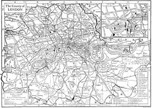 Tipping the Velvet - The story spans through the London districts of Brixton, Smithfield, Leicester Square, St John's Wood, and Bethnal Green, shown here in a map from 1911.