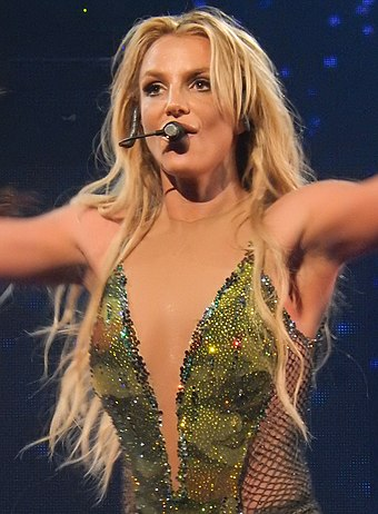 "American singer Britney Spears is known as the ""Princess of Pop"". Britney Spears, Roundhouse, London (Apple Music Festival 2016) (30072929931) (cropped).jpg"