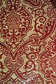 Brocatelle fragment with pomegranate in ogival lattice, view 2, Italy, Renaissance, late 16th century, silk and linen brocatelle - Royal Ontario Museum - DSC04395.JPG
