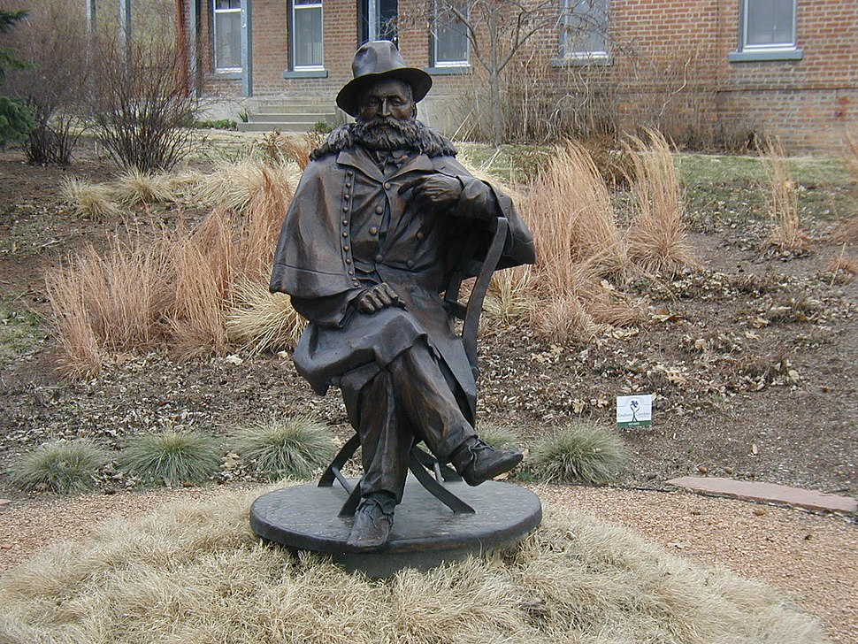 Bronze statue of General George Crook at Fort Omaha