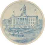 1895 engraving of Brooklyn Borough Hall