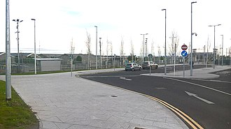 Cabra, Dublin - Broombridge train station and Luas stop and depot