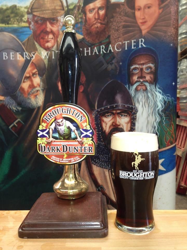 Broughton Ales Dark Dunter in Cask - Hand pump