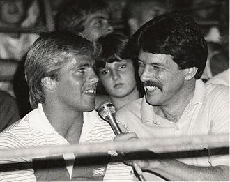 Bruce Penhall - Bruce Penhall (left) in 1981