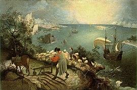 Bruegel, Pieter de Oude - De val van icarus - hi res