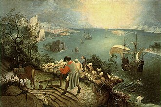 1558 in art - Pieter Bruegel the Elder, Landscape with the Fall of Icarus, 1558