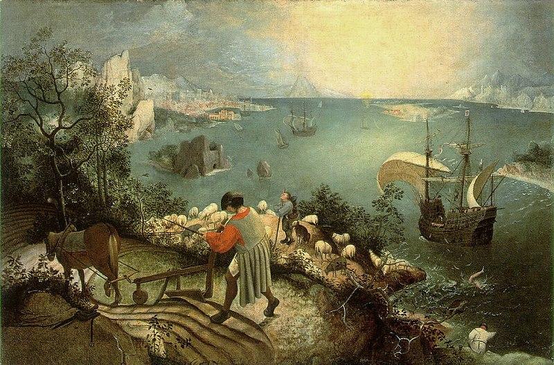 Fichier:Bruegel, Pieter de Oude - De val van icarus - hi res.jpg