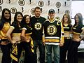 Bruins Ice Girls Posing with Fans.jpg