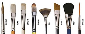 Paintbrush - Types of brushes