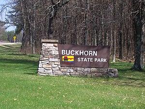 Buckhorn State Park - Image: Buckhorn State Park Sign