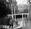 Budapest III., Pünkösdfürdői Strand bejárata árvíz idején. Fortepan 76226.jpg