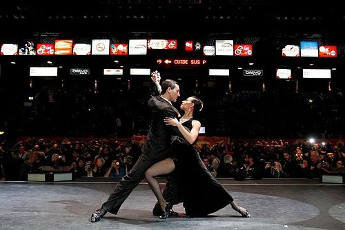 Tango dancers during the World tango dance tournament. Buenos Aires Festival y Mundial de Tango.jpg