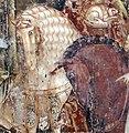 Buffalmacco, trionfo della morte, incontro dei tre vivi coi tre morti 28 cavalli.jpg