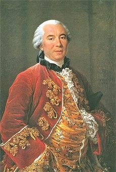 Georges-Louis Leclerc, Comte de Buffon, by François-Hubert Drouais (1727-1775).
