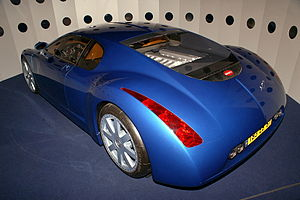 Bugatti 18/3 Chiron - Rear three-quarters view of the car