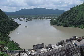 Bui Dam - The reservoir behind the Bui Dam started to fill up in 2011